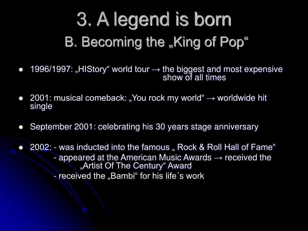 3. A legend is born