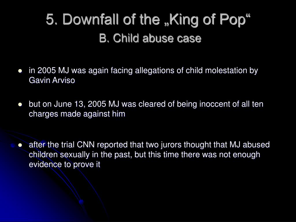 "5. Downfall of the ""King of Pop"""