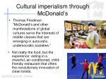 cultural imperialism through mcdonald s
