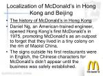 localization of mcdonald s in hong kong and beijing