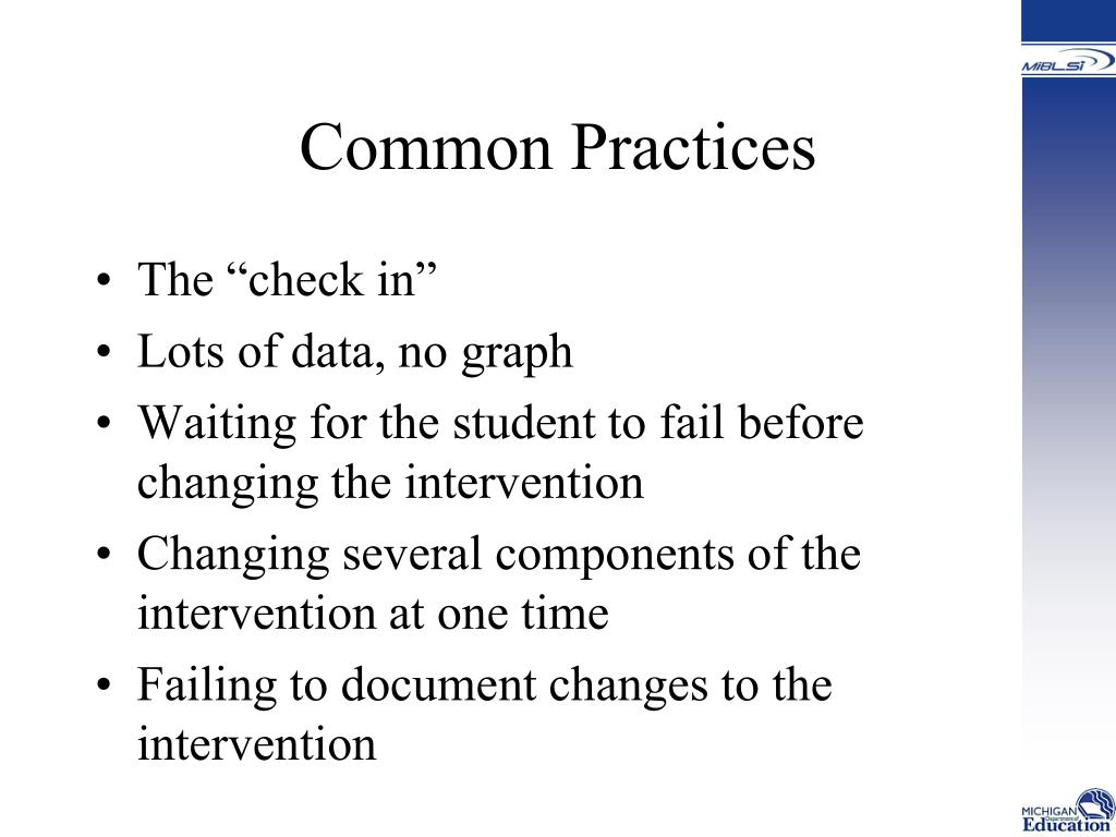 Common Practices