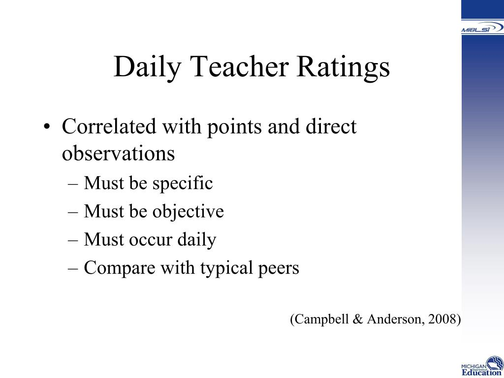 Daily Teacher Ratings