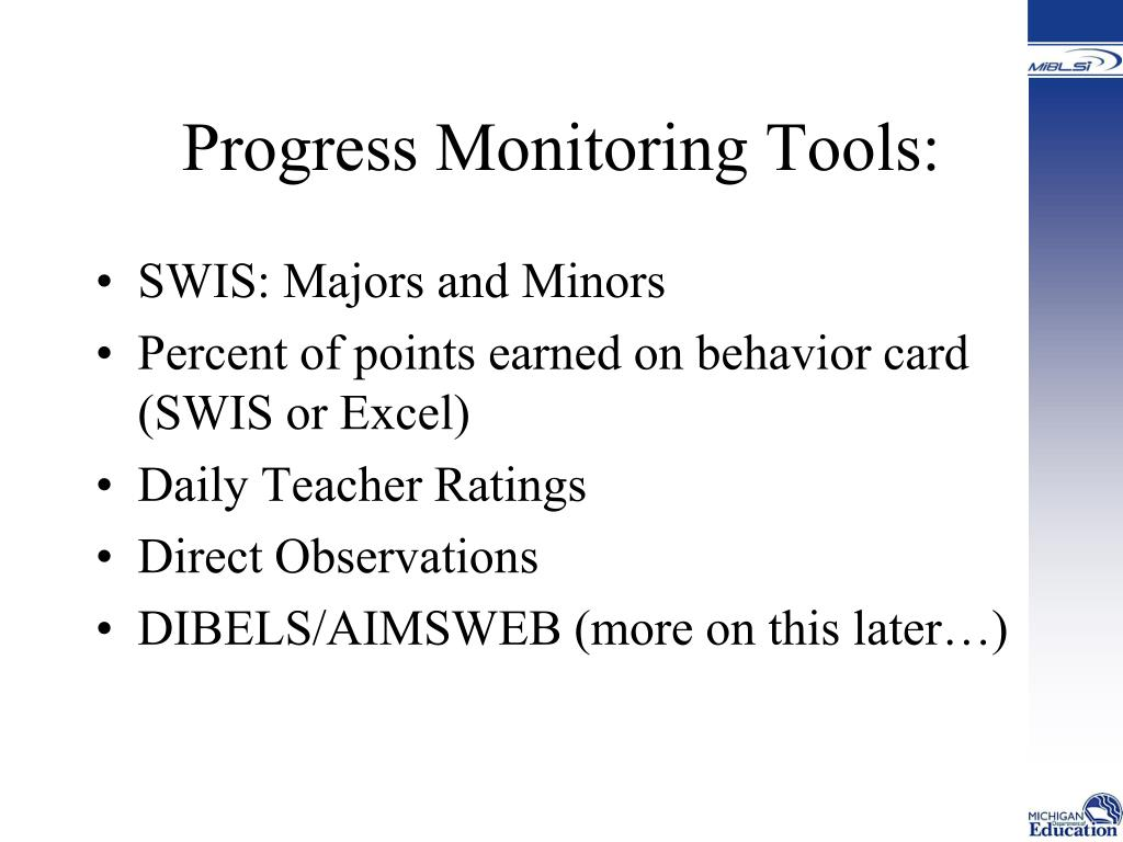 Progress Monitoring Tools:
