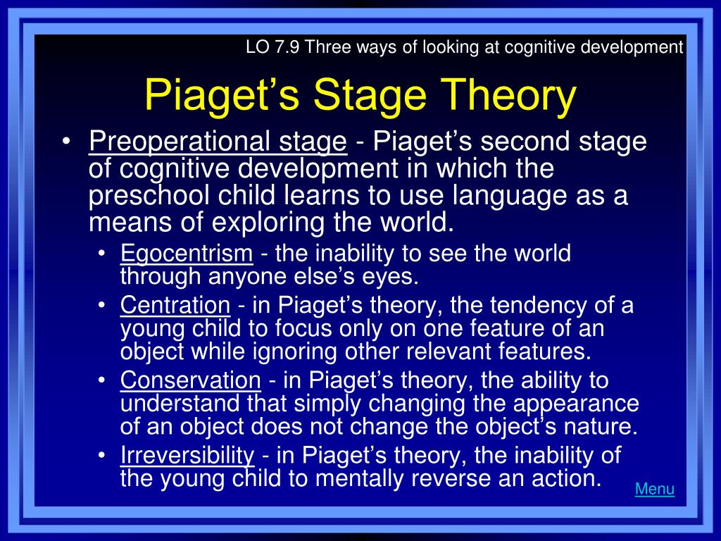 stage theories Stage theories in general describe how we go through distinct stages as we  develop thus, rather than gradually changing, we typically make sudden shifts to .