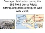damage distribution during the 1989 m6 9 loma prieta earthquake correlated quite well with vs30