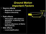ground motion important factors