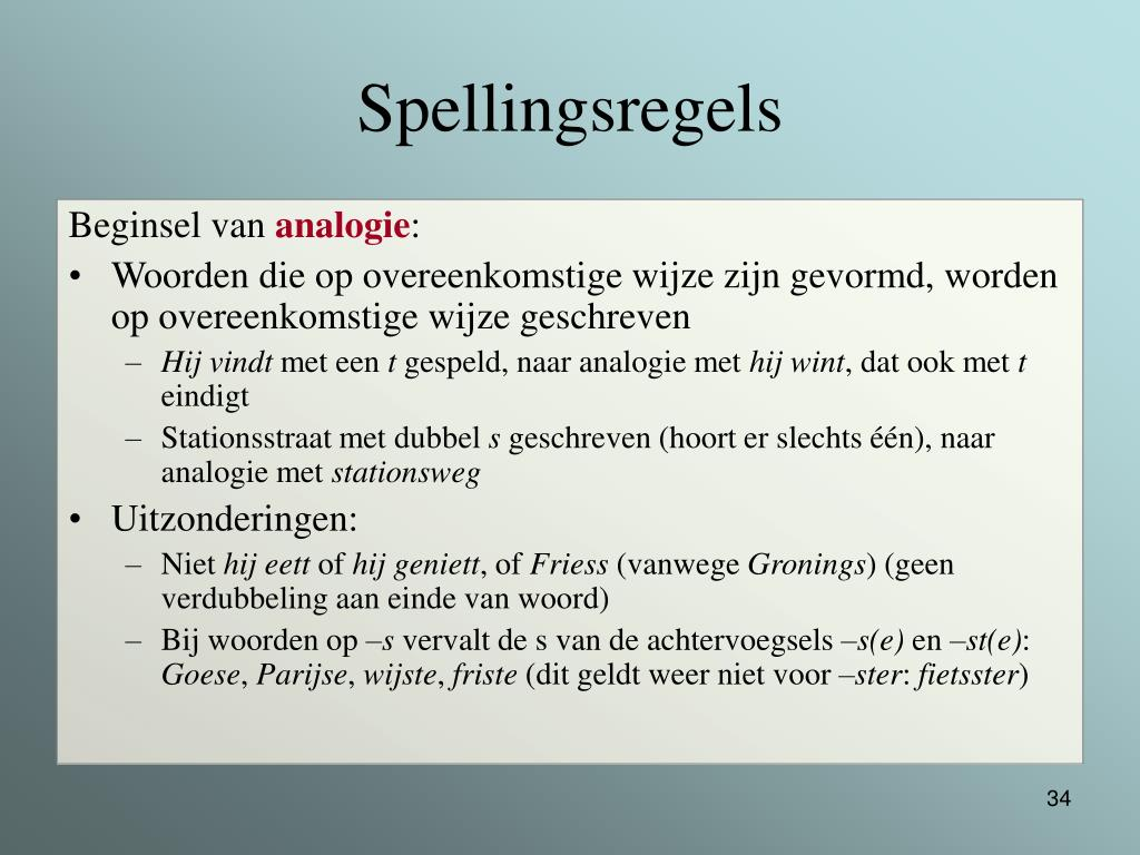 Spellingsregels