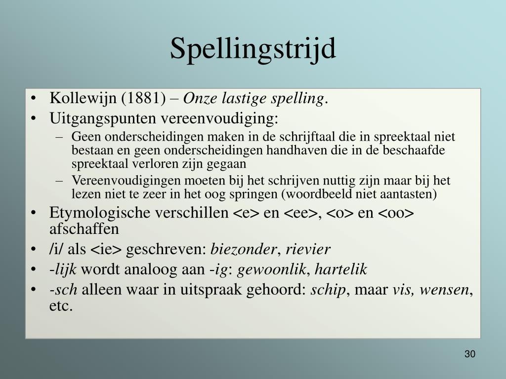 Spellingstrijd