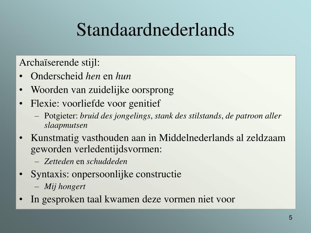 Standaardnederlands
