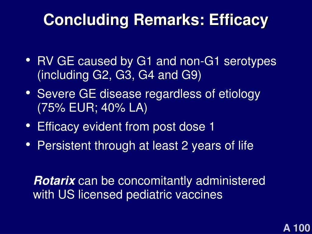Concluding Remarks: Efficacy