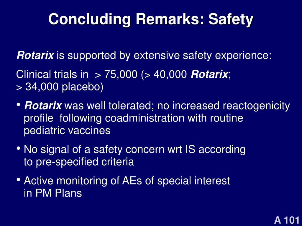 Concluding Remarks: Safety
