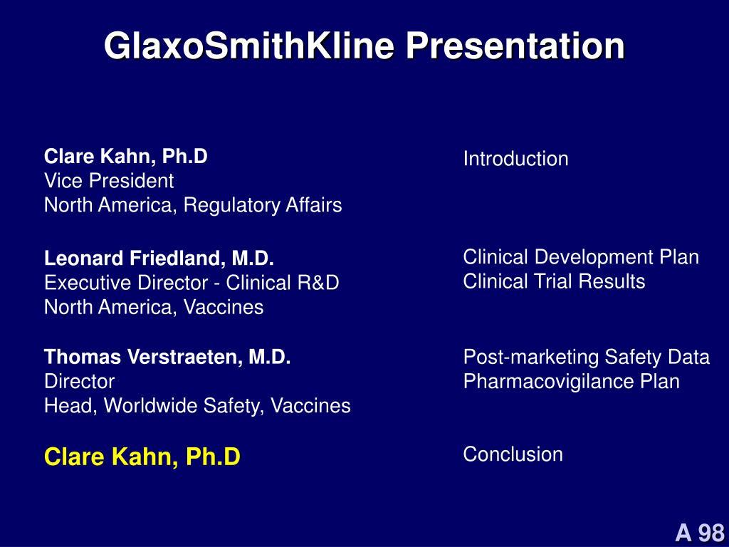 GlaxoSmithKline Presentation