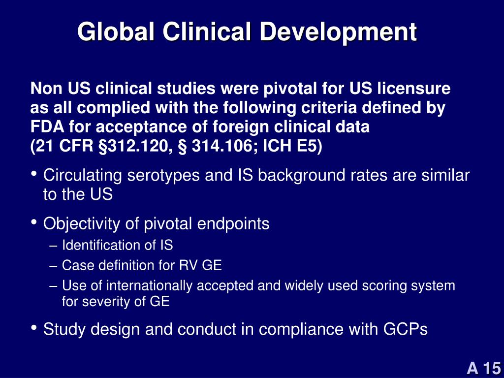 Global Clinical Development