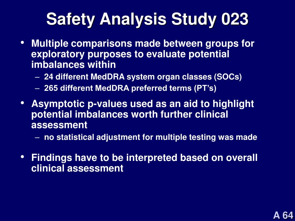Safety Analysis Study 023