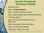 grantee homebuyer purchase rehab