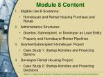module 8 content