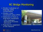 rc bridge monitoring
