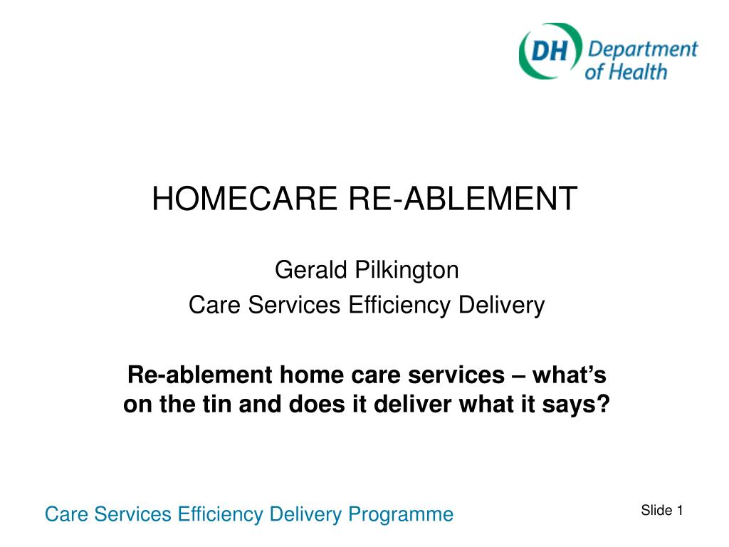 homecare re ablement