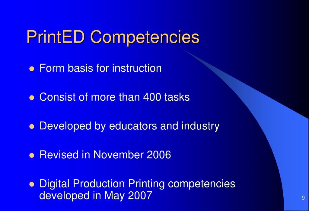 PrintED Competencies