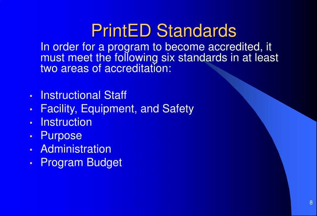 PrintED Standards