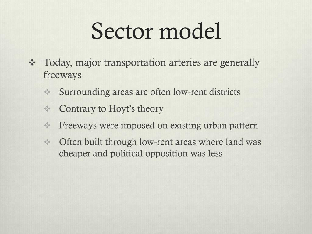 Sector model