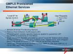 gmpls provisioned ethernet services