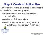 step 3 create an action plan