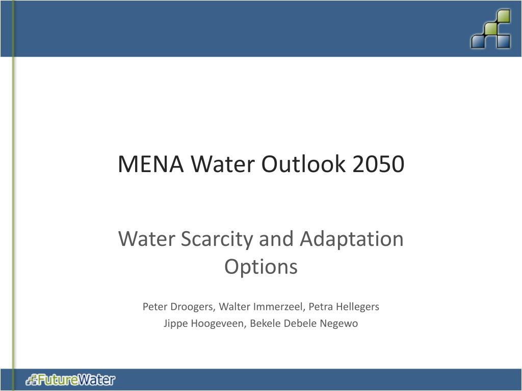 mena water outlook 2050