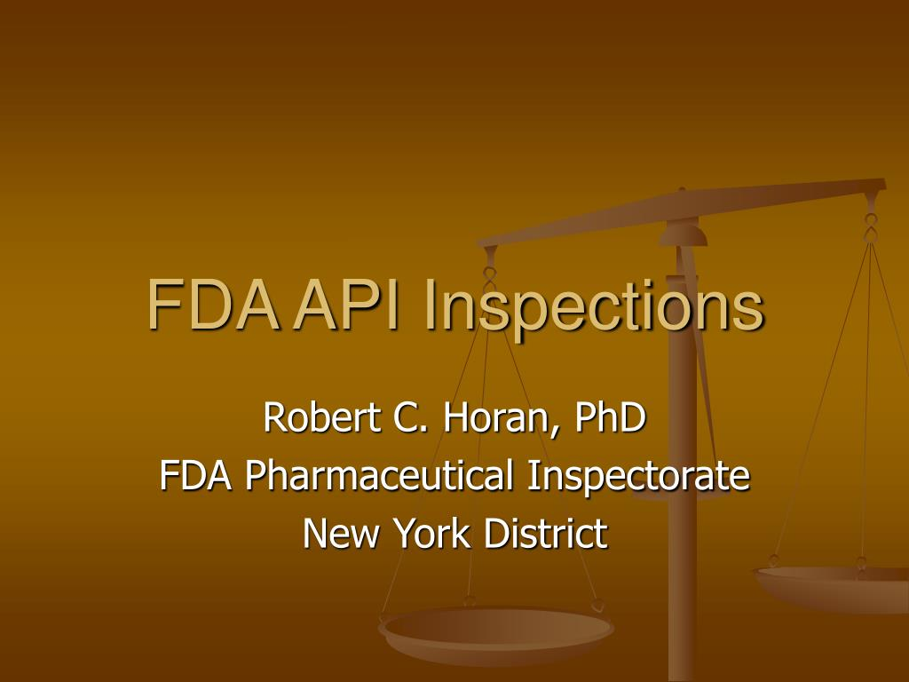 fda api inspections