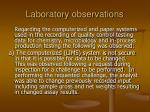 laboratory observations21