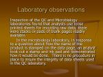laboratory observations23