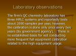 laboratory observations26