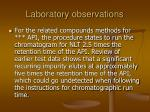 laboratory observations33