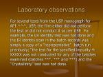 laboratory observations34