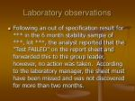 laboratory observations37