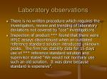 laboratory observations38