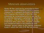 materials observations85