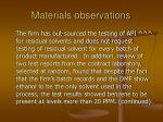 materials observations86