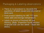packaging labeling observations91