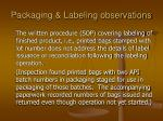 packaging labeling observations92