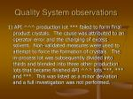 quality system observations14