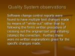 quality system observations8