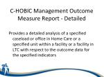 c hobic management outcome measure report detailed