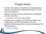 project intent