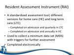resident assessment instrument rai