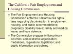 the california fair employment and housing commission