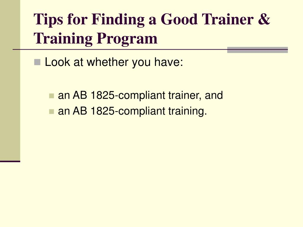 Tips for Finding a Good Trainer & Training Program