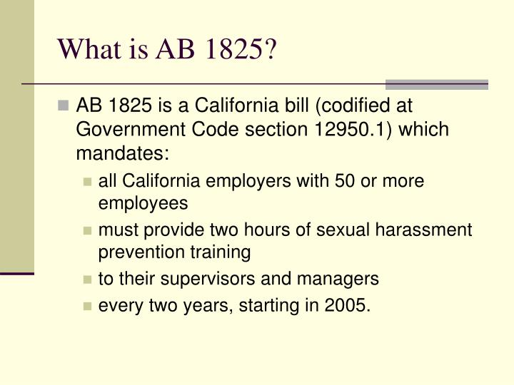 What is ab 1825