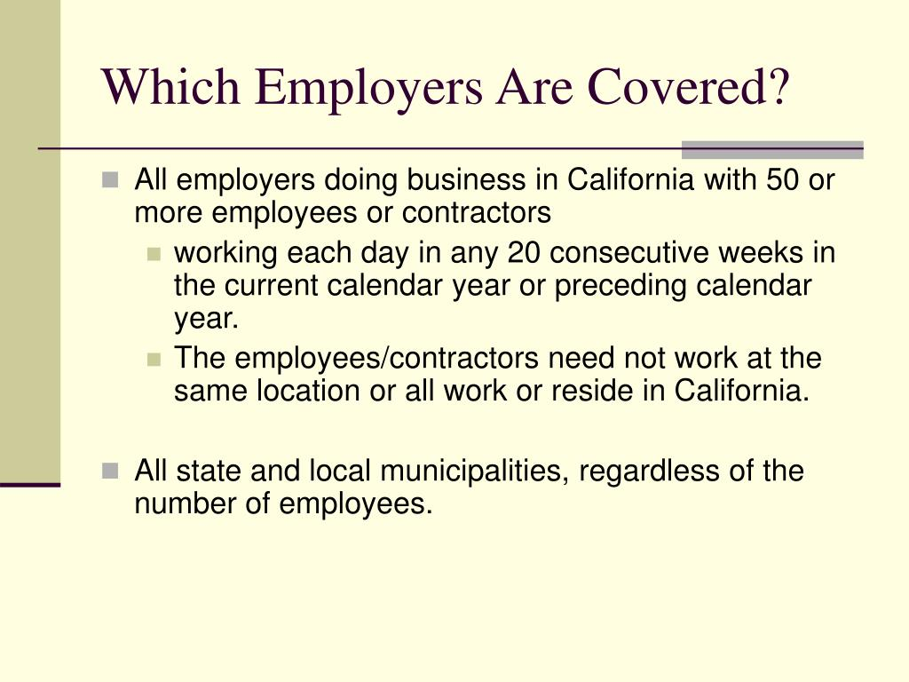 Which Employers Are Covered?