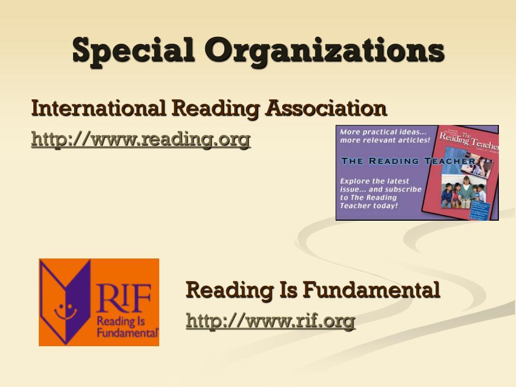 Special Organizations